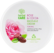 Düfte, Parfümerie und Kosmetik Tonisierende Massagecreme mit Kakaobutter und Rosenwachs - Bulgarian Rose Herbal Care Rose & Cococa Massage Cream
