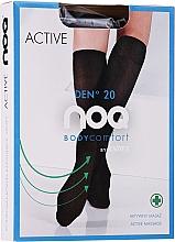 Düfte, Parfümerie und Kosmetik Damenkniestrümpfe mit Fußmassageeffekt Active 20 Den nero - Knittex
