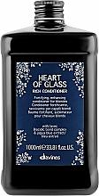 Düfte, Parfümerie und Kosmetik Pflegende Haarspülung für blondes Haar mit Sonnenblumenöl - Davines Heart Of Glass Rich Conditioner