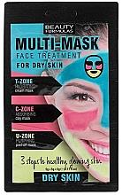 Düfte, Parfümerie und Kosmetik Mehrzweck-Gesichtsmaske für trockene Haut - Beauty Formulas 3-Step Multi-Mask Face Treatment For Dry Skin