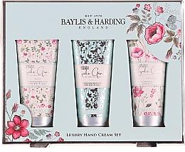 Düfte, Parfümerie und Kosmetik Handpflegeset - Baylis & Harding Royale Garden Luxury Hand Care Set (Handcreme 3x50ml)