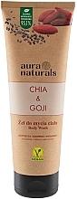 Düfte, Parfümerie und Kosmetik Straffendes und glättendes Duschgel mit Chia und Goji - Aura Naturals Chia & Goji Body Wash