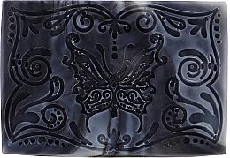 Düfte, Parfümerie und Kosmetik Handgemachte Naturseife mit Aktivkohle Schmetterling - Wooden Spoon Bar Soap