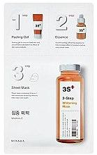 Düfte, Parfümerie und Kosmetik Gesichtsmaske - Missha 3-Step Whitening Mask