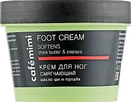 Düfte, Parfümerie und Kosmetik Aufweichende Fußcreme mit Sheabutter und Papaya - Cafe Mimi Foot Cream Softens