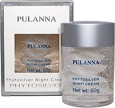 Düfte, Parfümerie und Kosmetik Nachtcreme für das Gesicht mit Silberpartikeln - Pulanna Phytosilver Night Cream