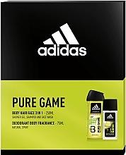 Düfte, Parfümerie und Kosmetik Adidas Pure Game - Duftset (Eau de Cologne 75ml + Duschgel 250ml)
