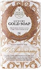 Düfte, Parfümerie und Kosmetik Luxusseife 60 Anniversary mit Irisduft und 23K Blattgold - Nesti Dante Emozioni a Toscana Soap