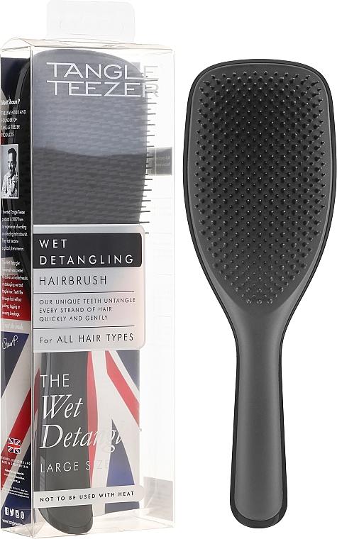 Schwarze Haarbürste groß - Tangle Teezer The Wet Detangler Black Gloss Large Size Hairbrush