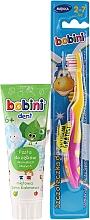 Düfte, Parfümerie und Kosmetik Zahnpflegeset für Kinder - Bobini (Zahnbürste 2-7 Jahre gelb-rosa + Zahnpasta 6+ Jahre 75ml)