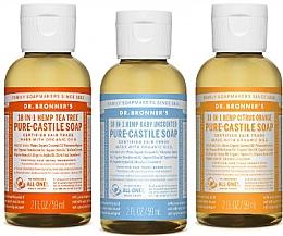 Düfte, Parfümerie und Kosmetik Seifenset - Dr. Bronner's 18-in-1 Pure Castile Soap (Flüssigseife 3x 60ml)