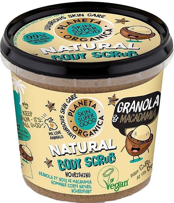 Pflegendes Körperpeeling mit Müsli und Macadamia - Planeta Organica Granola & Macadamia Body Scrub
