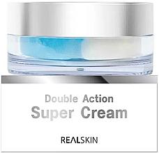Düfte, Parfümerie und Kosmetik 2in1 Feuchtigkeitsspendende und pflegende Gesichtscreme für die T-Zone und U-Zone - Real Skin Double Action Super Cream