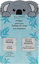 Düfte, Parfümerie und Kosmetik Fußpflegeset - Marion Dr Koala (Fußpeeling 6,5ml + Fußmaske 6ml)