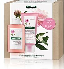 Düfte, Parfümerie und Kosmetik Haarpflegeset - Klorane Peony (Beruhigendes Shampoo 200ml + Haarspülung-Gel mit Pfingstrosenextrakt 150ml)