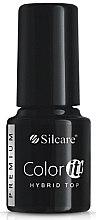 Düfte, Parfümerie und Kosmetik Decklack für Hybrid-Nagellack - Silcare Color IT Premium Hybrid Top Coat Gel