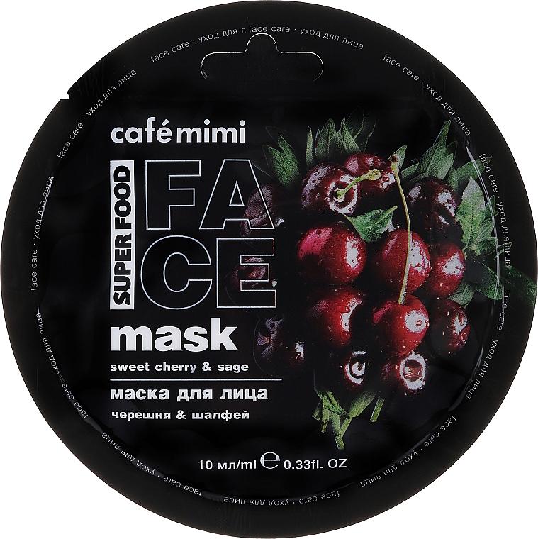 Nährende und tonisierende Gesichtsmaske mit Kirsch- und Salbeiextrakt - Cafe Mimi Face Mask