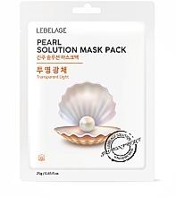 Düfte, Parfümerie und Kosmetik Pflegende Tuchmaske mit Perlenextrakt - Lebelage Pearl Solution Mask