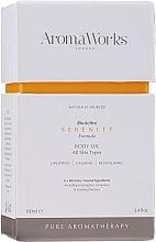Düfte, Parfümerie und Kosmetik Beruhigendes und revitalisierendes Körperöl für alle Hauttypen - AromaWorks Serenity Body Oil