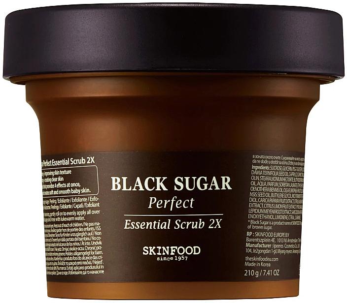 Gesichtspeeling mit schwarzem Zucker - SkinFood Black Sugar Perfect Essential Scrub 2X