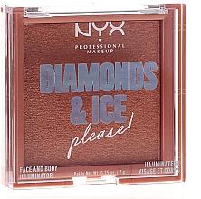 Düfte, Parfümerie und Kosmetik Highlighter für Körper und Gesicht - NYX Professional Makeup Diamonds & Ice Face And Body Illuminator