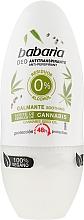 Düfte, Parfümerie und Kosmetik Deo Roll-on Antitranspirant mit Cannabis - Babaria Cannabis Deodorant Roll-on