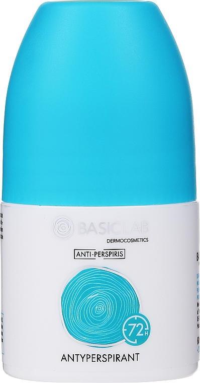 Deo Roll-on Antitranspirant 72h - BasicLab Dermocosmetics Anti-Perspiris