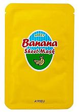 Düfte, Parfümerie und Kosmetik Pflegende Tuchmaske mit Bananen- und Honigextrakt - A'Pieu Sweet Banana Sheet Mask