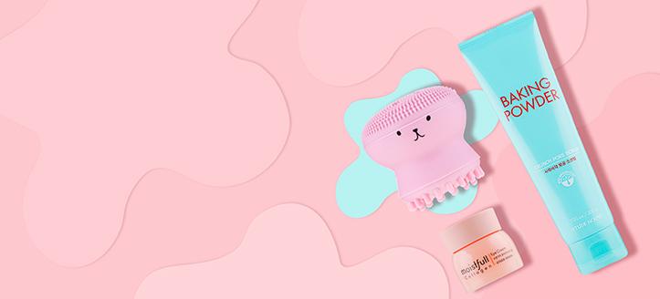 Beim Kauf von Etude House Produkten ab CHF 28 bekommen Sie eine Gesichtsreinigungsbürste aus Silikon geschenkt