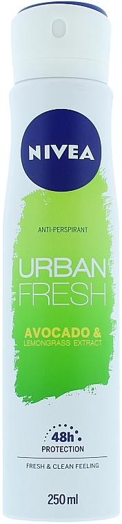Deospray Antitranspirant - Nivea Urban Fresh Avocado And Lemongrass Anti-Perspirant Spray