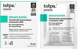 Düfte, Parfümerie und Kosmetik Peeling-Tücher für das Gesicht mit AHA-Säuren - Tolpa Estetic Exfoliating Wipe