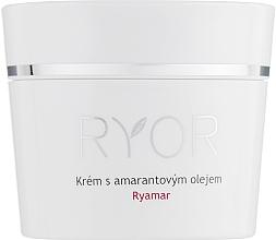 Düfte, Parfümerie und Kosmetik Nährende und feuchtigkeitsspendende Gesichtscreme mit Amarathöl für sehr empfindliche Haut - Ryor Ryamar