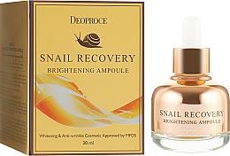 Düfte, Parfümerie und Kosmetik Aufhellendes Gesichtsserum gegen Falten - Deoproce Snail Recovery Brightening Ampoule