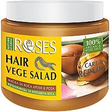 Düfte, Parfümerie und Kosmetik Regenerierende Maske mit Rose und Argan für strapaziertes Haar - Nature of Agiva Roses Care & Repair Hair Mask