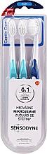 Düfte, Parfümerie und Kosmetik Zahnbürsten weich Gentle Care hellblau, dunkelblau 3 St. - Sensodyne Gentle Care Soft Toothbruhs