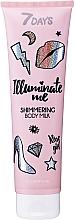 Düfte, Parfümerie und Kosmetik Schimmernde Körpermilch mit Rosenduft - 7 Days Illuminate Me Shimmering Body Milk