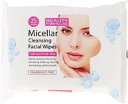 Düfte, Parfümerie und Kosmetik Mizellen-Make-up-Entfernungstücher - Beauty Formulas Micellar Cleansing Facial Wipes