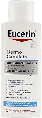 Beruhigendes und feuchtigkeitsspendendes Shampoo mit Urea für trockene und juckende Kopfhaut - Eucerin DermoCapillaire Calming Urea Shampoo — Bild N2