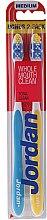 Düfte, Parfümerie und Kosmetik Zahnbürste weich Total Clean blau,gelb 2 St. - Jordan Total Clean Medium