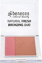 Düfte, Parfümerie und Kosmetik Rouge & Bronzer - Benecos Natural Fresh Bronzing Duo