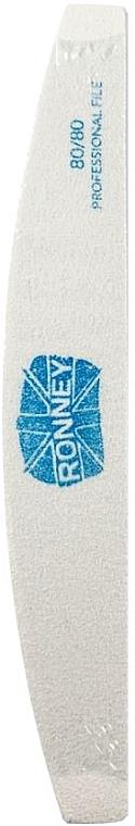 Nagelfeile 80/80 Halbmond weiß - Ronney Professional