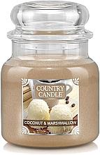 Düfte, Parfümerie und Kosmetik Duftkerze im Glas Coconut & Marshmallow - Country Candle Coconut & Marshmallow