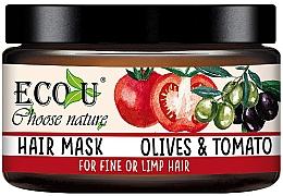 Düfte, Parfümerie und Kosmetik Haarmaske mit Oliven und Tomate für dünnes Haar - Eco U Mask For Fine Hair