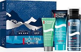 Düfte, Parfümerie und Kosmetik Gesichts-, Haar- und Körperpflegeset - Biotherm Homme (Gel-Shampoo 40ml + Gesichtscreme 20ml + Rasierschaum 50ml)