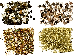 Düfte, Parfümerie und Kosmetik Selbstklebende Mini-Pailletten-Set - Peggy Sage Nail Glitter Mini Kit Or