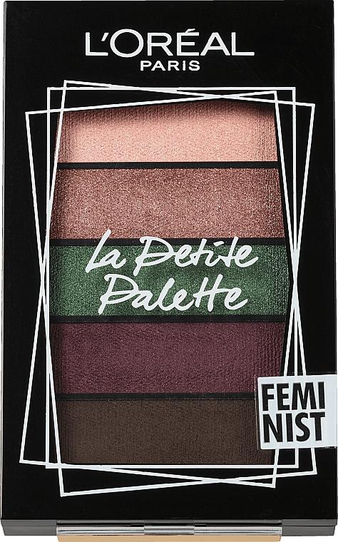 Lidschattenpalette - L'Oreal Paris La Petite Palette Feminist Eyeshadow