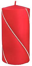 Düfte, Parfümerie und Kosmetik Dekorative Kerze rot 7x14 cm - Artman Bolero