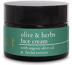 Düfte, Parfümerie und Kosmetik Krem do twarzy z oliwą z oliwek - Yellow Rose Olive & Herbs Face Cream
