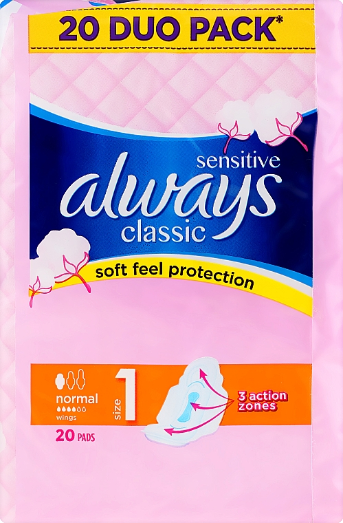 Damenbinden mit Flügeln 20 St. - Always Classic Sensitive Normal