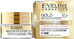 Düfte, Parfümerie und Kosmetik Tag und Nacht glättendes Creme Serum 30+ - Eveline Cosmetics Gold Revita Expert 30+